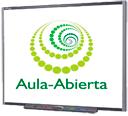 Aula-Abierta academia de idiomas en Perillo Oleiros usa Pizarra digital